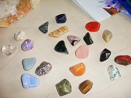 Natural Gemstone Tumbled Stone Chakras Set Tumbled Stone Polished