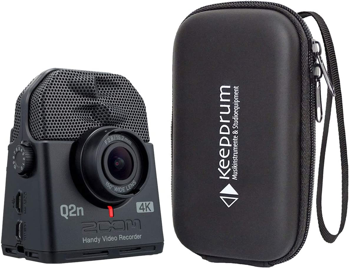 Zoom Q2n 4k Audio And Video Recorder Ultra Hd Keepdrum Soft Case Musical Instruments