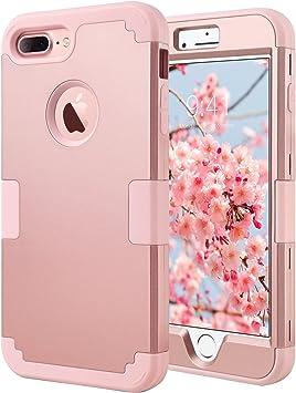 coque iphone 7 plus apple rose