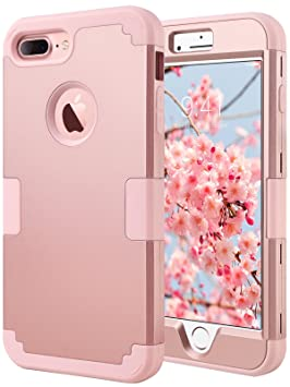 carcasa iphone 7 rosa oro purpurina