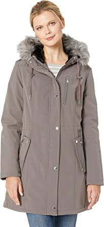 cac652e6 Tommy Hilfiger Womens Softshell Anorak w/Faux Fur Hood at Amazon Women's  Coats Shop