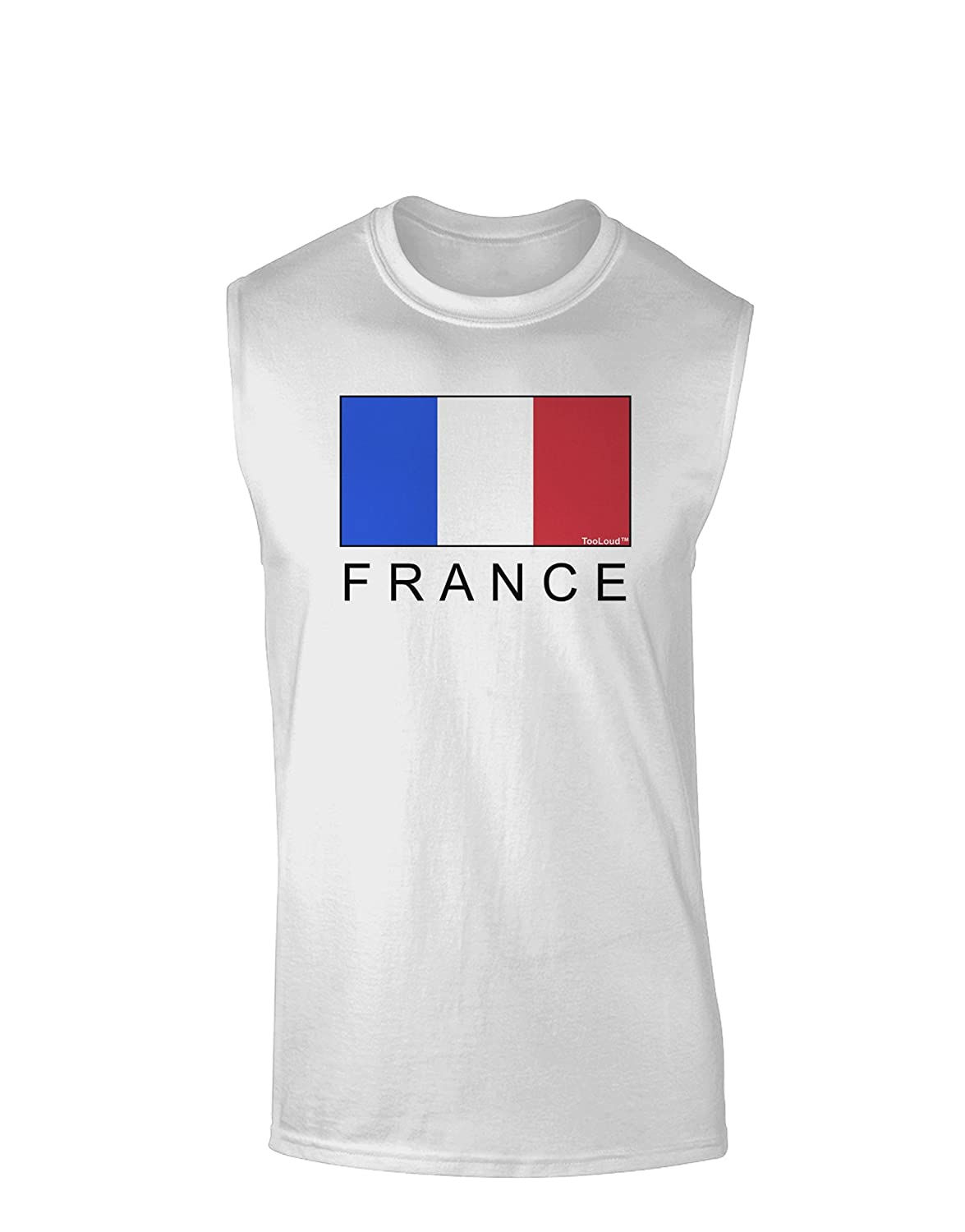 France Text Muscle Shirt TooLoud French Flag