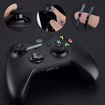 eXtremeRate Joysticks negro Pegatina protectora Resistente al desgaste Thumbstick de reemplazo Kit de Herramienta Destornillador para el mando del Xbox One Orignal Xbox One Elite Xbox One S Xbox One X: Amazon.es:
