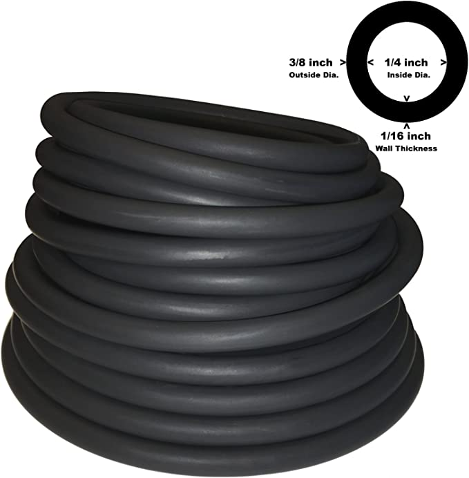 Long 1//4ID x 1//2OD x 5 ft USA Sealing Super Soft Latex Tubing for Air
