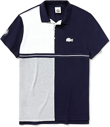 Lacoste Sport Ph3481 Polo, Multicolor (Marine/Argent Chiné-Blanc ...