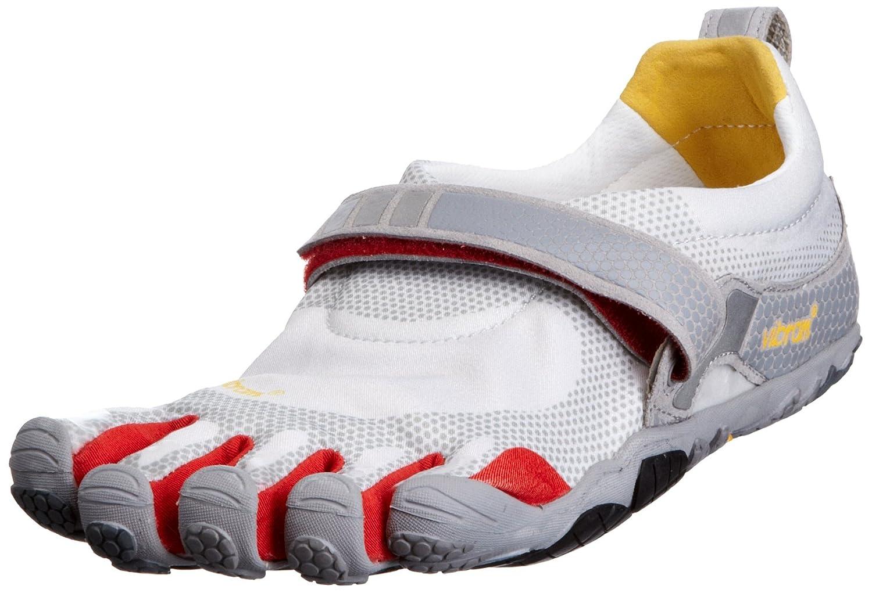Vibram FiveFingers Men Bikila Running Shoe 44, Light Grey Red Grey