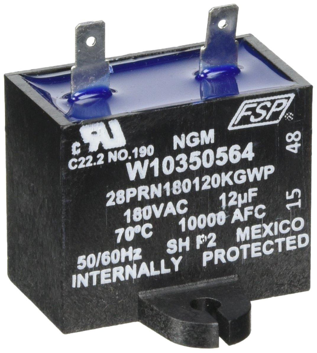 Whirlpool Capacitor-Run 12 Mfd/18 OEM W10350564