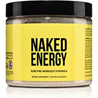Naked Energy – All Natural Pre Workout Powder for Men and Women, Vegan Friendly, Unflavored, No Added Sweeteners, Colors…