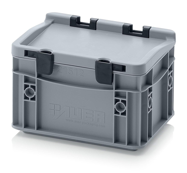 Eurobeh/älter-Eurobox 30 x 20 x 13,5 cm mit Scharnierdeckel inkl gratis Zollstock