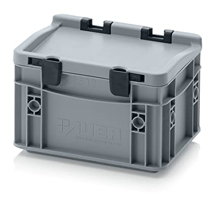 Euro de cajas Euro Box 20 x 15 x 13,5 Tapa con bisagras,