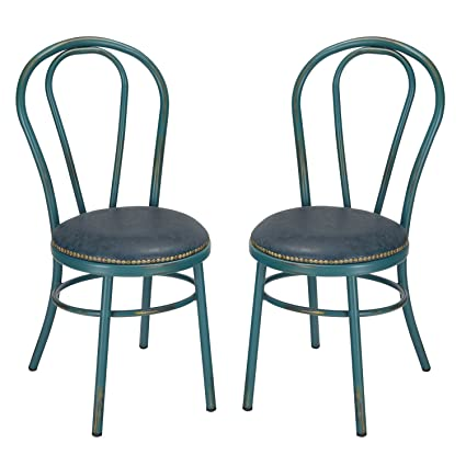 Home's Art Round Vintage-Style Shabby Chic U-Back Dining Chair With Full  Back - Amazon.com: Home's Art Round Vintage-Style Shabby Chic U-Back Dining