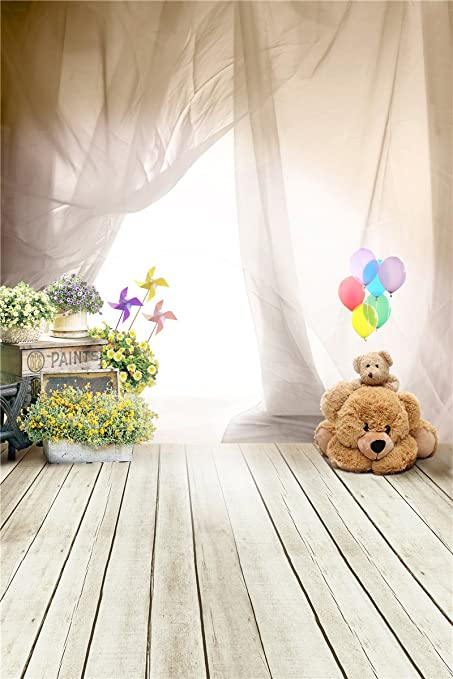 Fantasy Ballon Bear Photography Backdrops For Baby Photo Studio Props Children Background Vinyl 5x7ft 4015