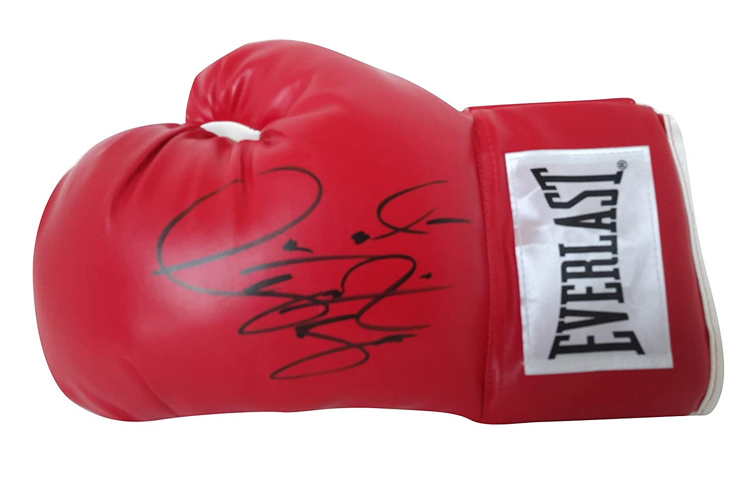 World Heavyweight Champion Deontay Wilder Autographed Hand Signed Everlast Red Left-Handed Boxing Glove with Proof Photo of Signing and COA