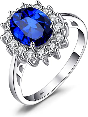 Amazon Com Jewelrypalace Princess Diana William Kate Middleton Gemstones Birthstone Halo Solitaire Engagement Rings For Women For Girls 925 Sterling Silver Ring Jewelry