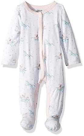 3305ad45b4 Amazon.com  Mud Pie Baby Girls Unicorn Long Sleeve Footed Sleeper  Clothing