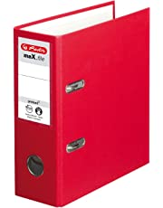 Herlitz max.file Protect A5 Upright Lever Arch File - Red