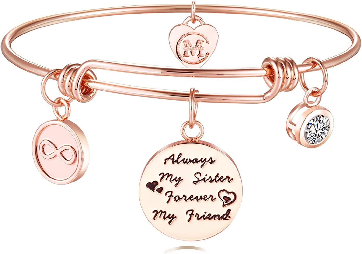 color and size customizable Mother Daughter Aunt Girlfriend Sister Bracelet Set Adjustable silver 925 on folding card text