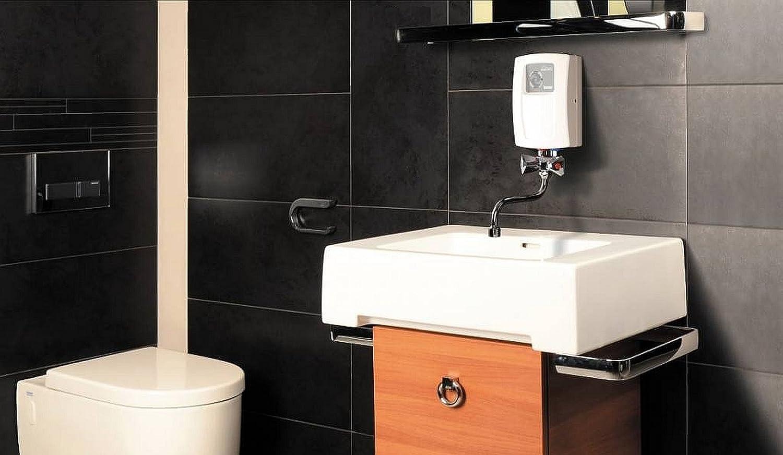 Calentador instantáneo eléctrico de agua 3,5 kw con dos grifos, 240 V, lavamanos.: Amazon.es: Bricolaje y herramientas