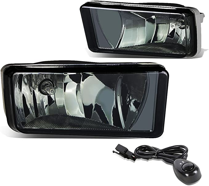 DNA Motoring Clear FL-ZTL-802-CH Driving Fog Lamps Driver /& Passenger Side Switch
