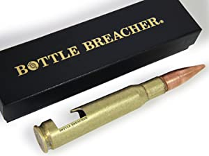 50 Caliber BMG Bottle Breacher Authentic Vintage Brass Bottle Opener with Gift Box Made in the USA