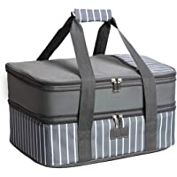 FE Casserole Carrier, Expandable Insulated Casserole Carriers for Hot or Cold Food, Lasagna Lugger for Parties, Fits 9…