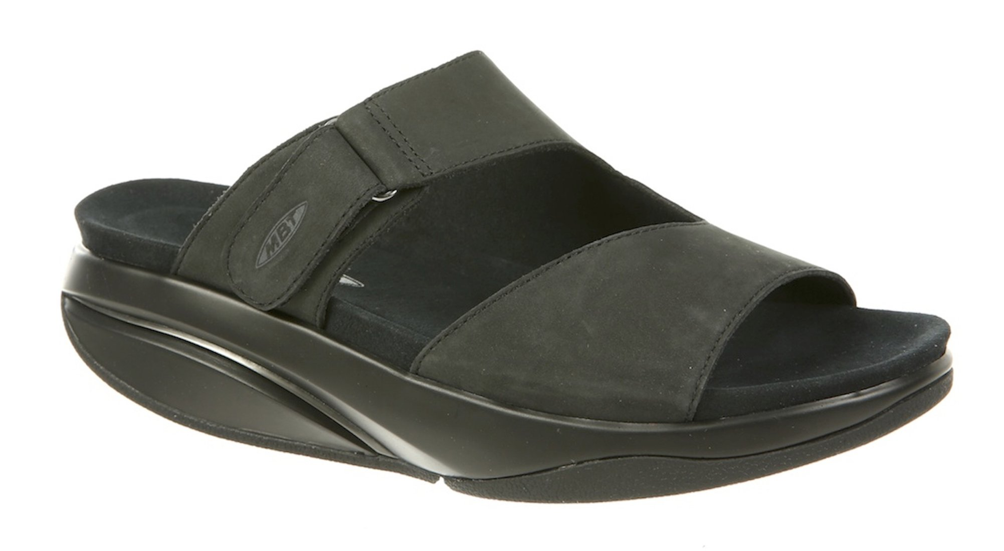 MBT Shoes Women's Tabia Sandal: Black/Nubuck 10 Medium (B) Velcro