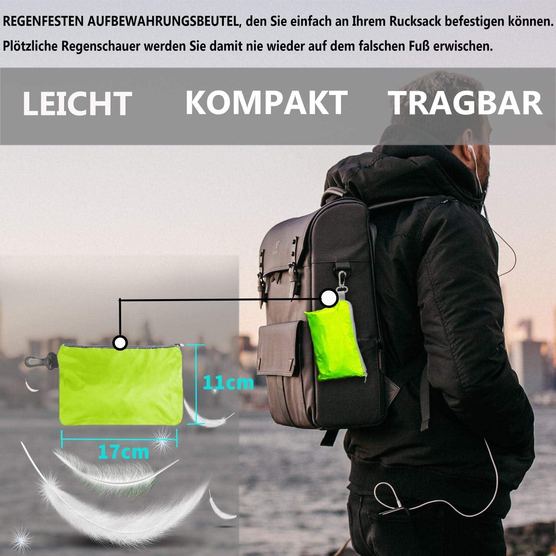 Protector de lluvia para mochilas escolares Frelaxy ciclismo funda para lluvia 15 /– 90 L con reflectores y correas antideslizantes en cruz para senderismo impermeable camping