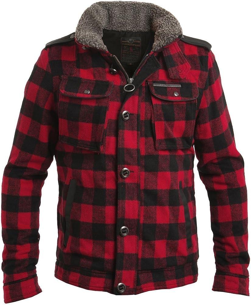 Camisa de leñador acolchada y con forro de sherpa, de Ringspun, color rojo y negro Rojo rosso Large: Amazon.es: Ropa y accesorios