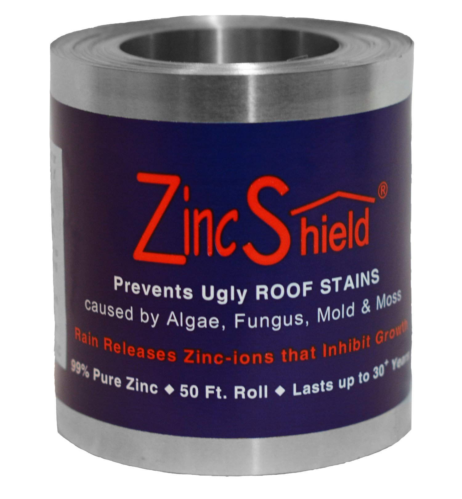 ZincShield Nail Set - Includes (2) x 3.5'' 50 Ft. Roll & (2) x Bag of Nails Installation Kit to Avoid Ugly Roof Stains from Moss, Algae, Fungus, and Mildew - Made in the USA