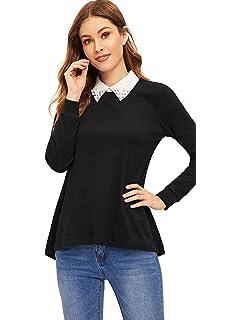 bef672dc901 Amazon.com  SkinnyShirt Long Sleeve V-Neck Sweater Women Heather ...