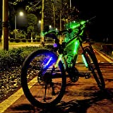 Acrato Bike Lights Bike Cycling Bicycle Safety Light Bike Safety Warning Light with Universal Stripes 2 Modes ,Green