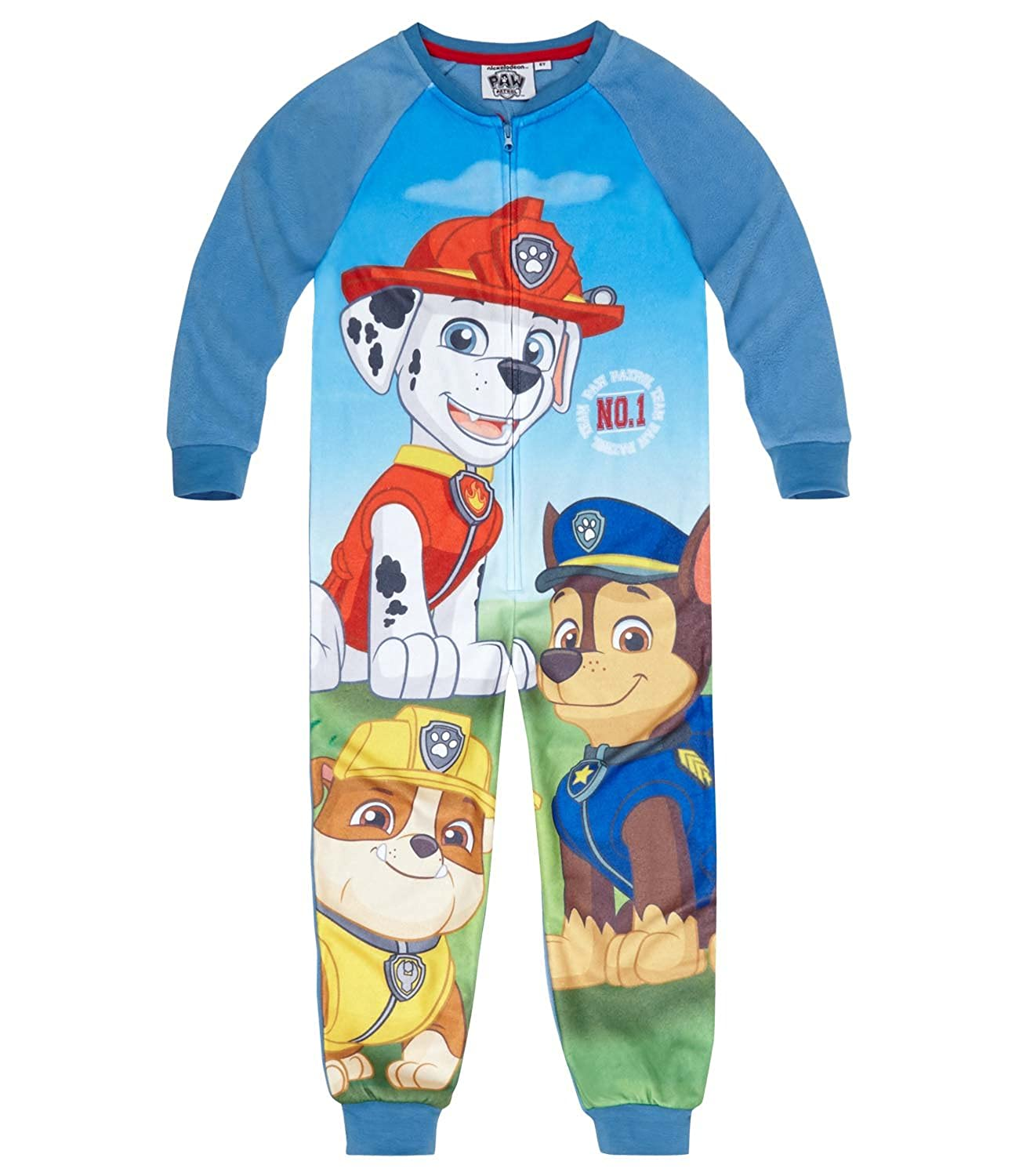 Nickelodeon Boys PAW Patrol Fleece Onesie Sleepsuit