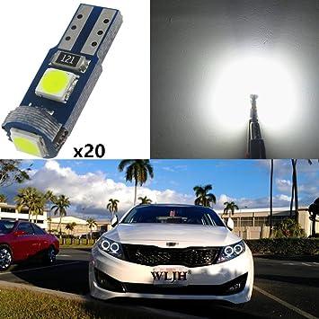 WLJH T5 74 2721 LED Light Bulb 3030-3SMD 6000K White 1 5W