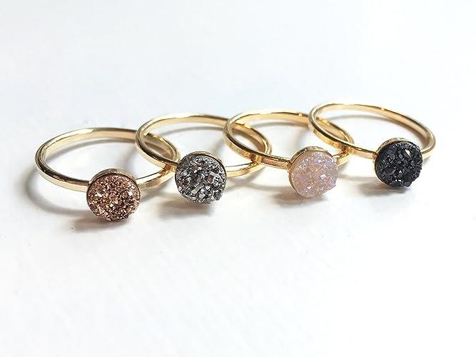 Amazon Gold Druzy Ring Handmade Druzy Stone Sparkle