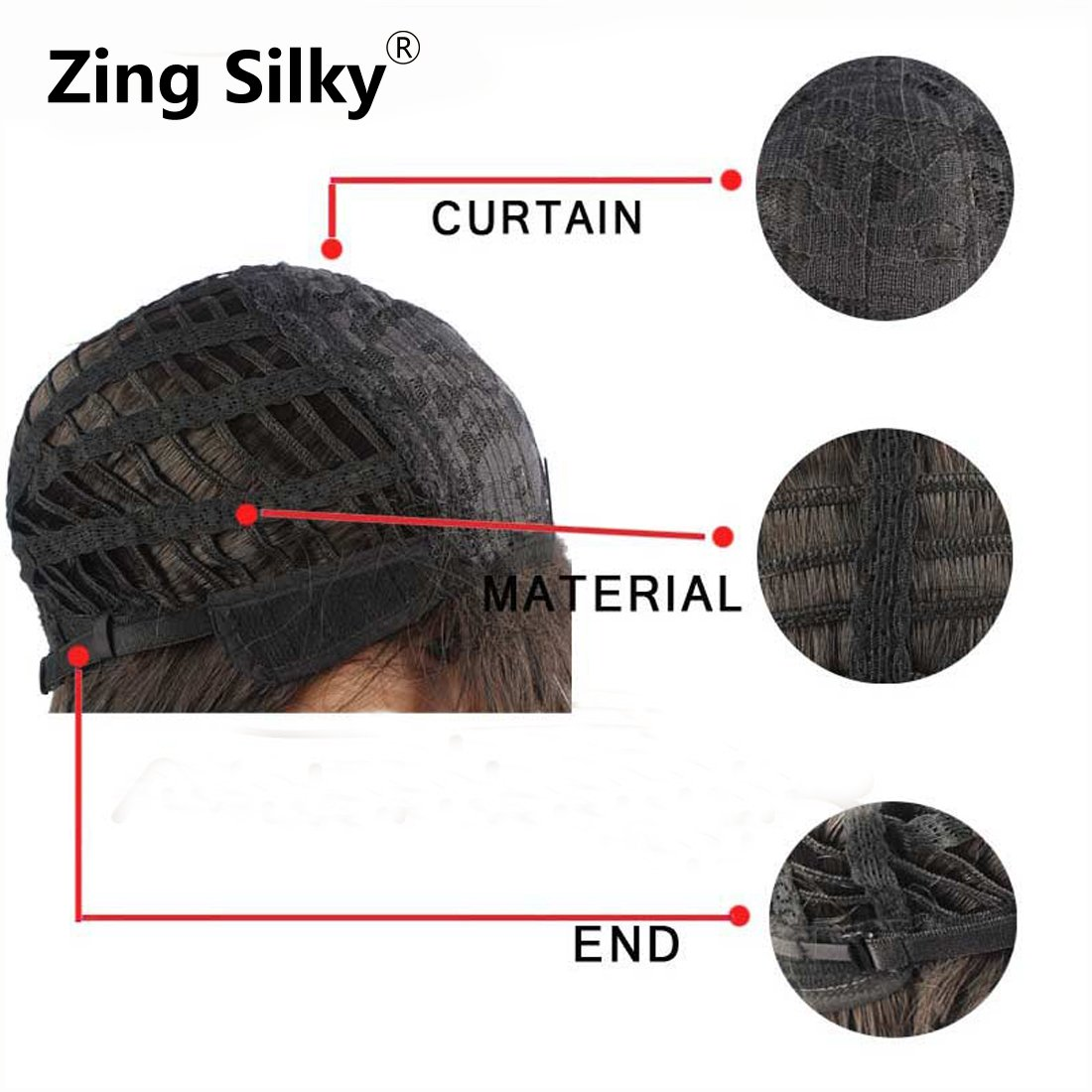 ZingSilky Synthetic Ombre Wigs With Bangs For Black Women Long Straight Wig Cosplay Grey Wig Natural Looking African American Wigs (26inch, Grey Bang)