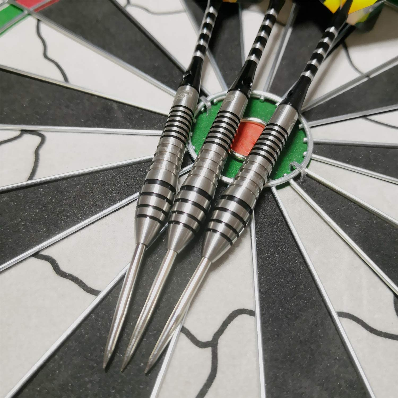 CyeeLife-Steel tip Darts Tungsten 90/% 23//30g+Carrying case+Sharpener+Tool+Aluminum shafts with Rings+3D Flights Professional Darts Set