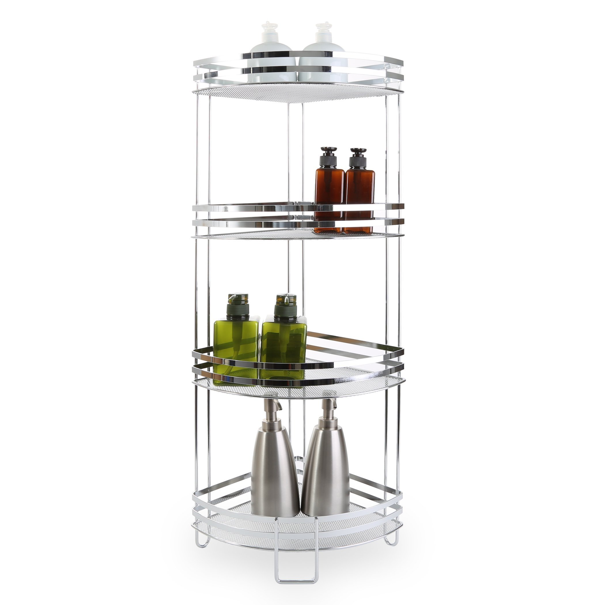 BINO 'Lafayette' Chrome Corner Spa Tower, 4-Tier