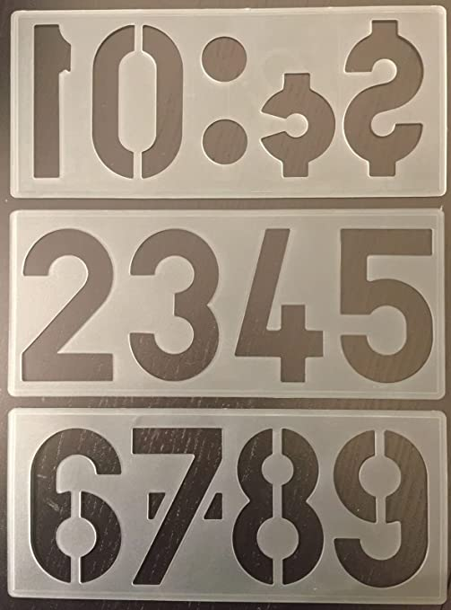 100MM A-Z Captial Letters 0-9 PLASTIC STENCIL TEMPLATE  POSTER SIGN LETTERING