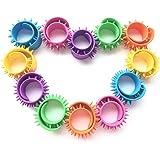 Senhui 12 Pack Spiky Slap Bracelets Bands Sensory Slap Bands Fidget Toy for Children Adults