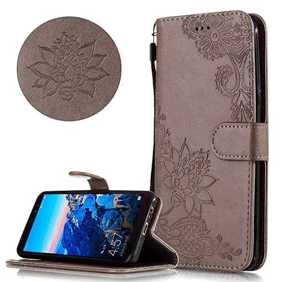 new arrival de1b9 7607d Amazon.com: COTDINFORCA Samsung A8 2018 Wallet Case, Premium PU ...
