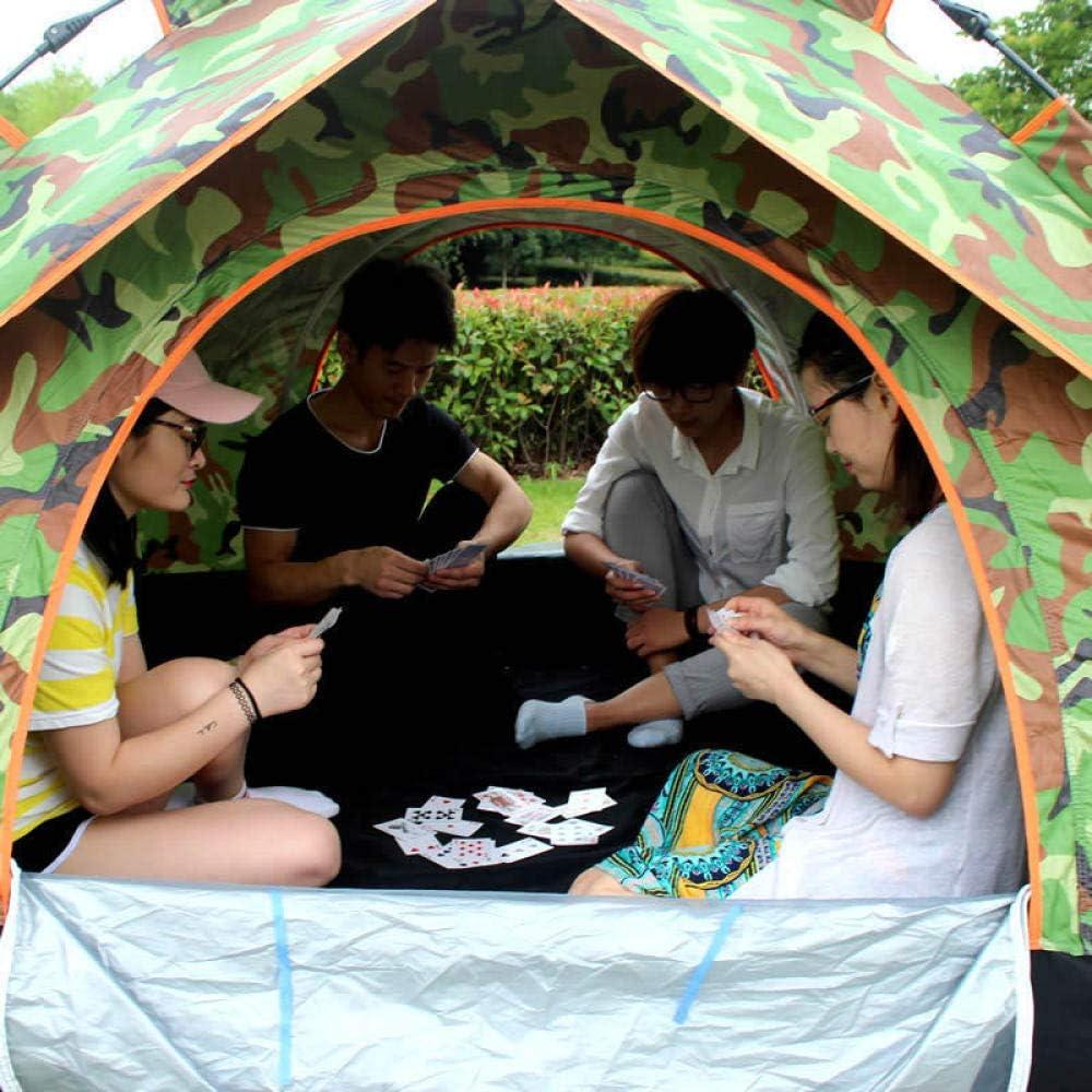 zxcvb Tienda de cúpula de Camping para 3 Personas con Bolsa de Transporte, Tienda de Mochila portátil Impermeable Ligera para Acampar al Aire Libre/Senderismo verde