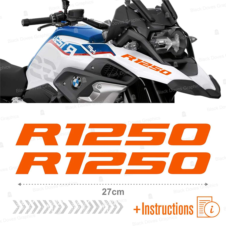 Argent 2pcs adh/ésif R1250 Adventure Compatible avec Les Motos Motorrad R1250GS R 1250 GS HP
