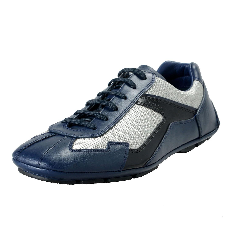 Prada メンズ 革のファッションスニーカーの靴SZ B07CJ1FNJQ