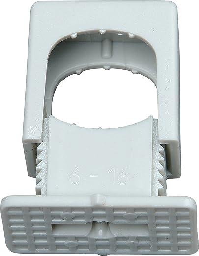 Kopp 343404099 Druck-Iso-Schellen 6 – 16 mm, 1-fach, mit M-6-Gewinde, 50 Stück, grau