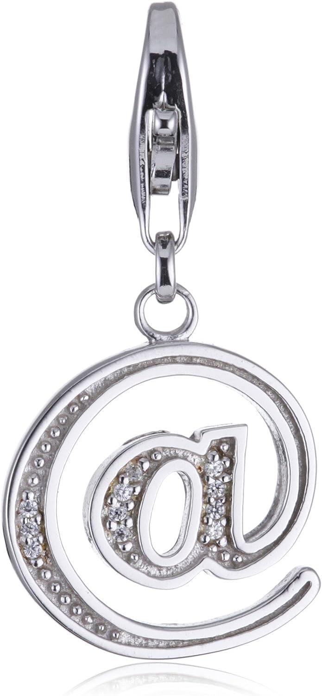 Oxyde de zirconium Blanc Esprit Charms Femme Argent 925//1000 2.1 gr ESCH90869A000 Cristal
