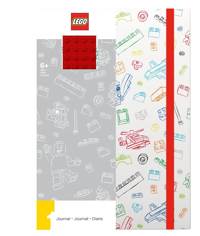 Lego - LG51840 - Loisir créatif - Papèterie - Journal avec Plaque Briques, Rouge