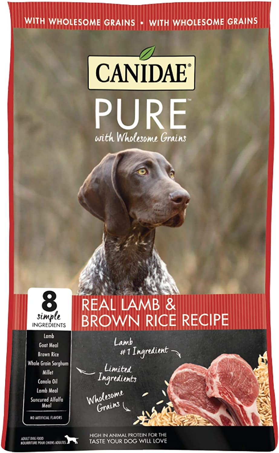 CANIDAE Pure Real Lamb & Brown Rice Recipe Dry Dog Food, 24 lbs.