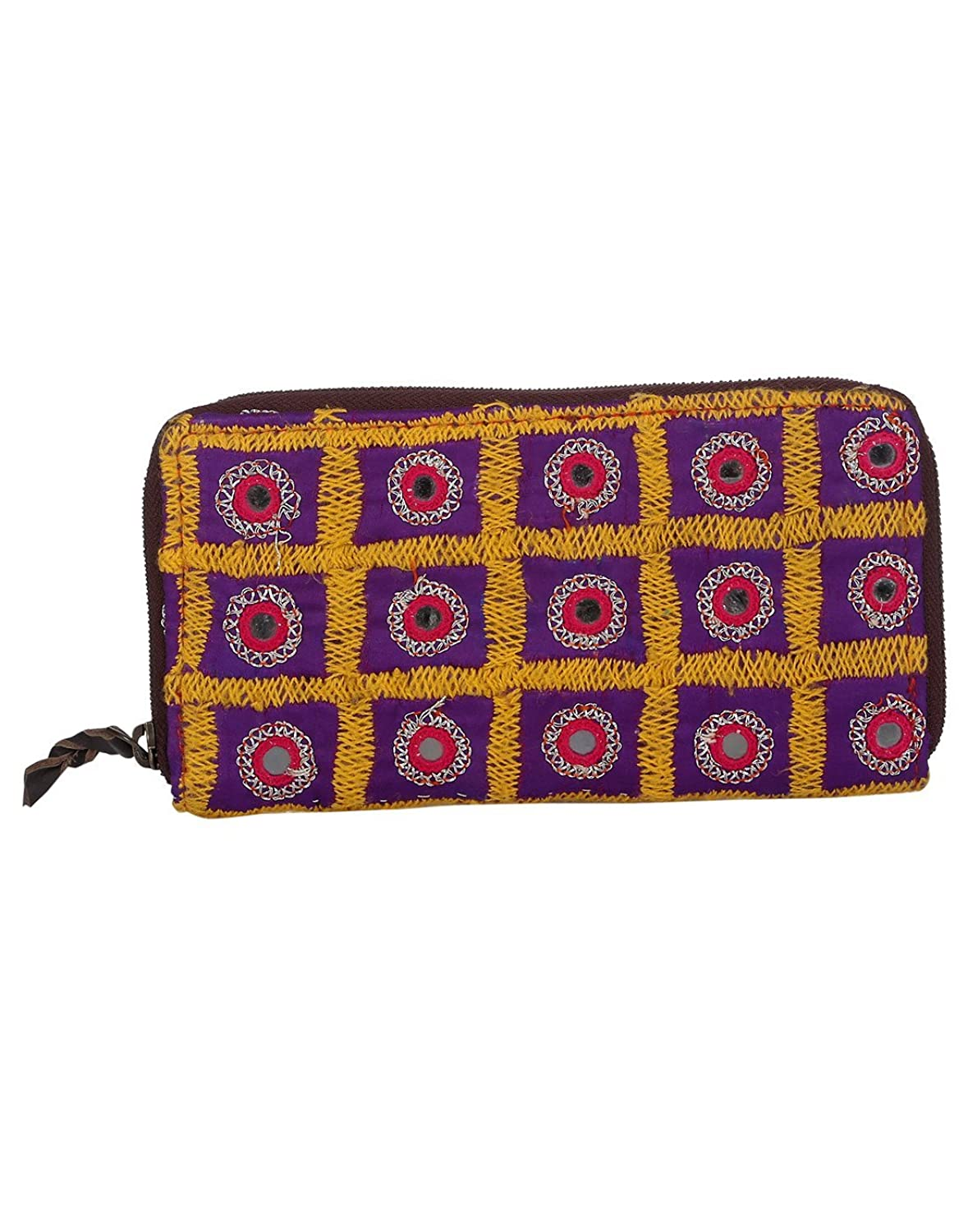 Antique Clutch Bag Vintage Hand Embroidered Cotton Bag For Women By Rajrang