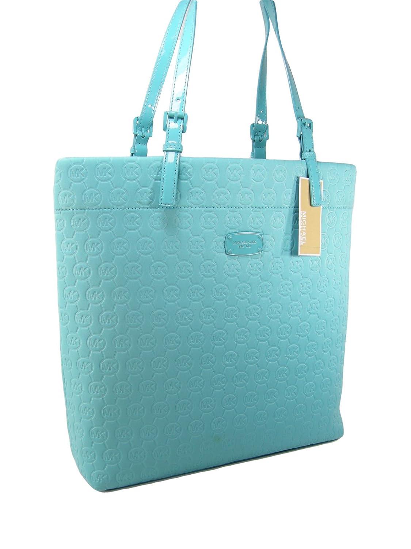 641cc238e266 Amazon.com: New Michael Kors MK Logo Purse XL Tote Shoulder Hand Bag  Neoprene Turquoise Aqua: Shoes