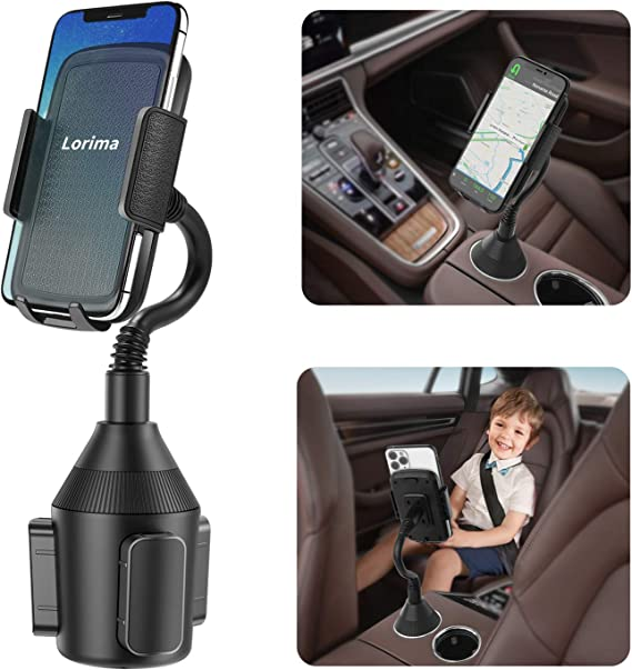 Car Cup Holder Phone Mount,Adjustable Automobile Smart Phone Cradle Car Mount with a 360/° Rotatable and Flexible Long Neck for iPhone XR Xs XS Max X 8 7 Plus 6s// Samsung Galaxy//Note GPS etc Huawei